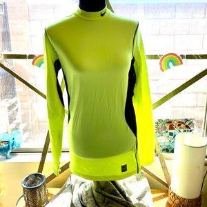 Nike Pro Combat Fit Neon Yellow Tee